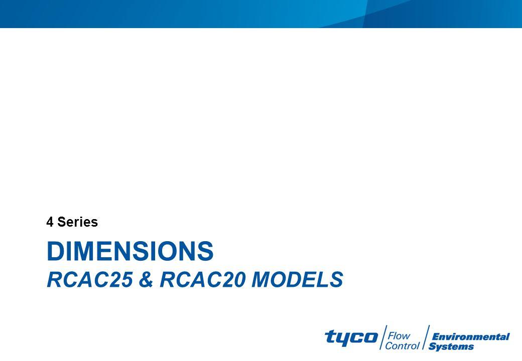 Dimensions RCAC25 & RCAC20 models