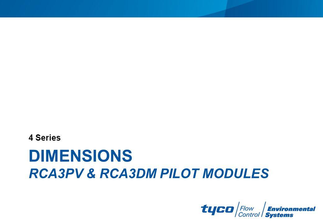 Dimensions rca3pv & rca3dm pilot modules