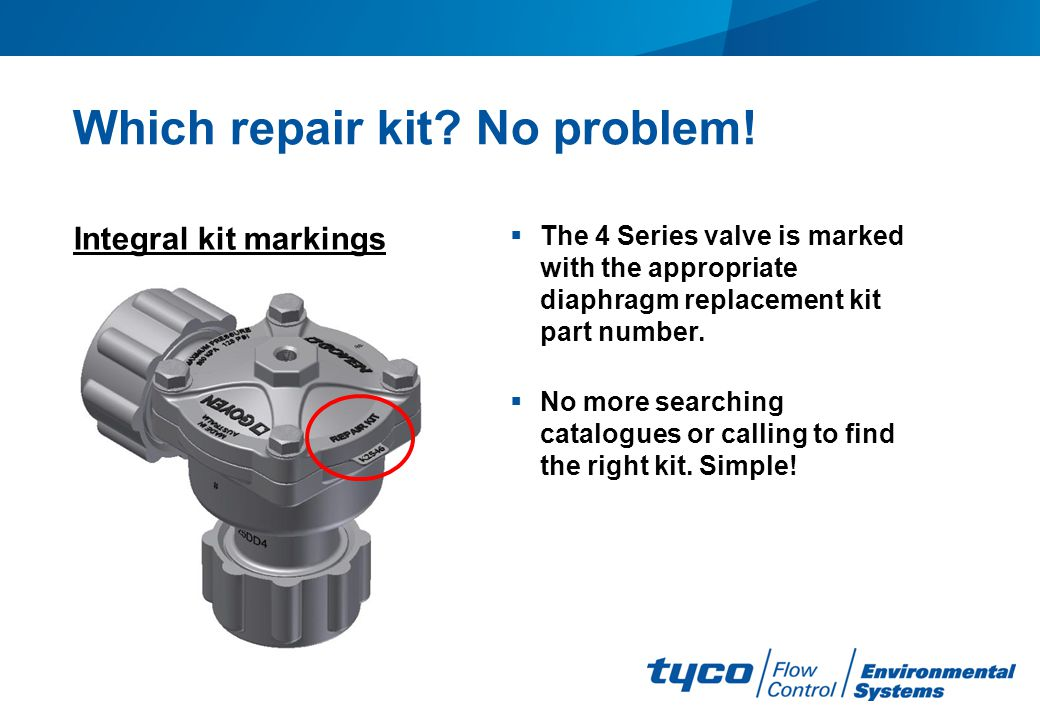 Which repair kit No problem!