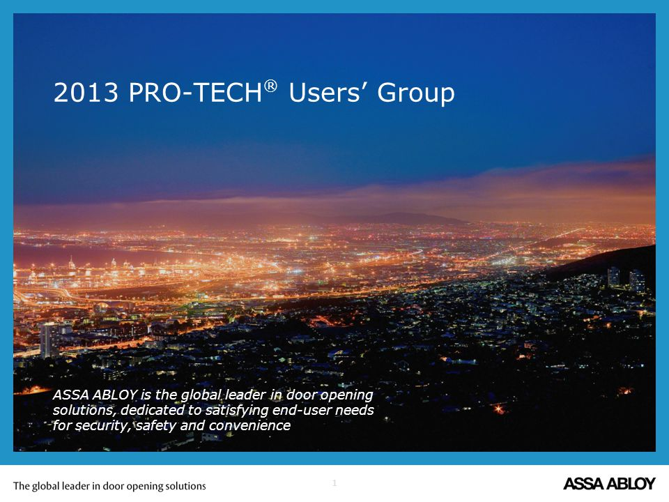 2013 PRO-TECH® Users' Group