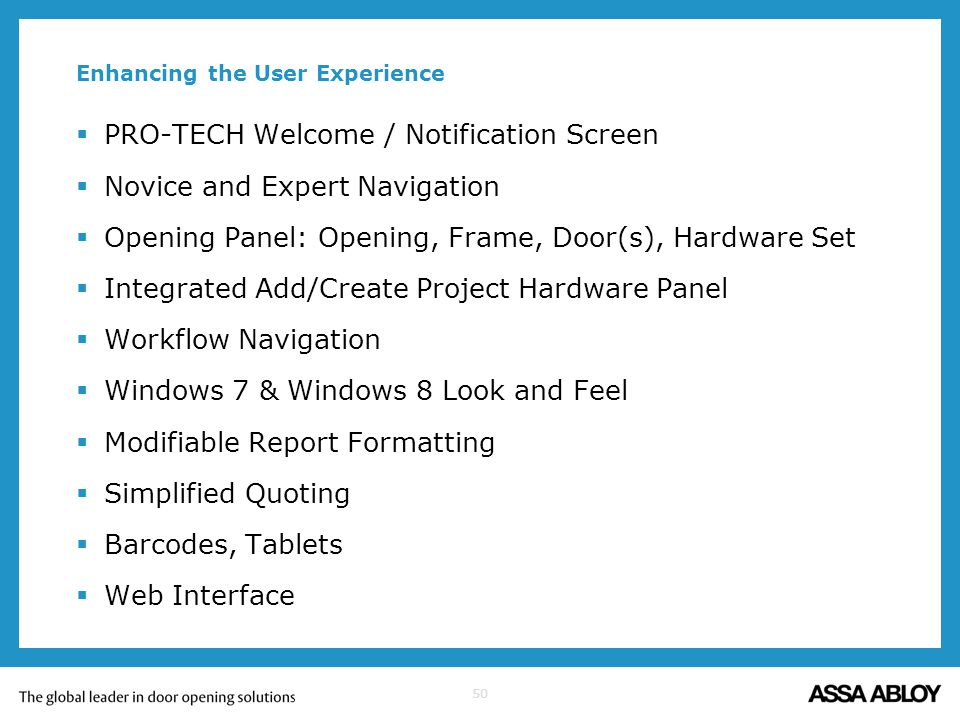 Enhancing the User Experience