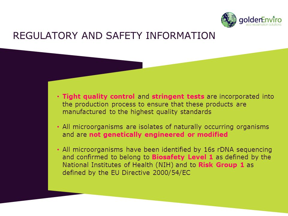 Regulatory and safety information