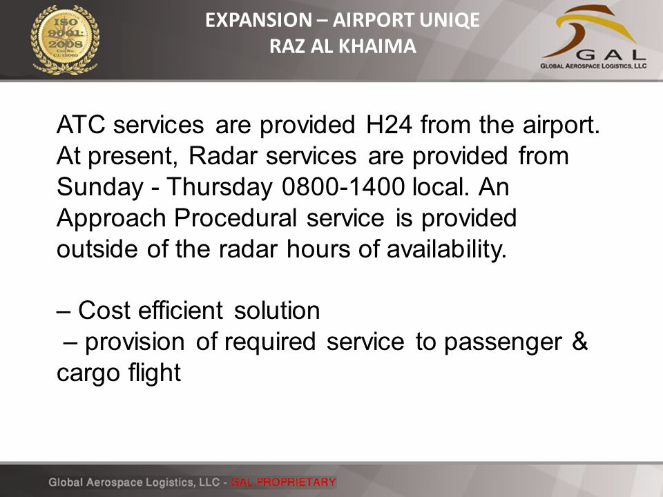 EXPANSION – AIRPORT UNIQE RAZ AL KHAIMA