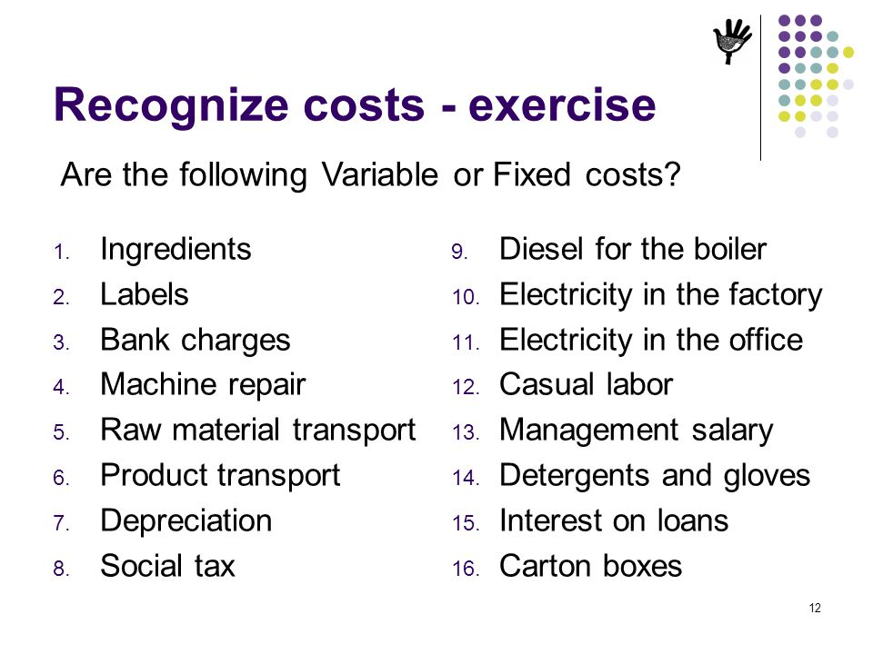 Recognize costs - exercise