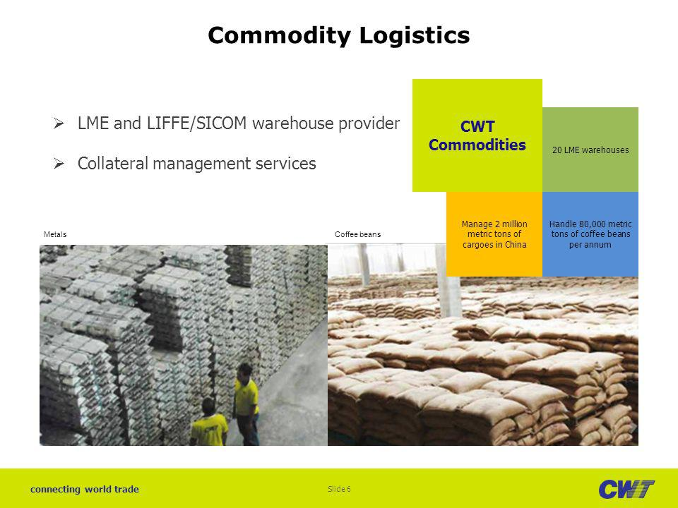 Commodity Logistics LME and LIFFE/SICOM warehouse provider