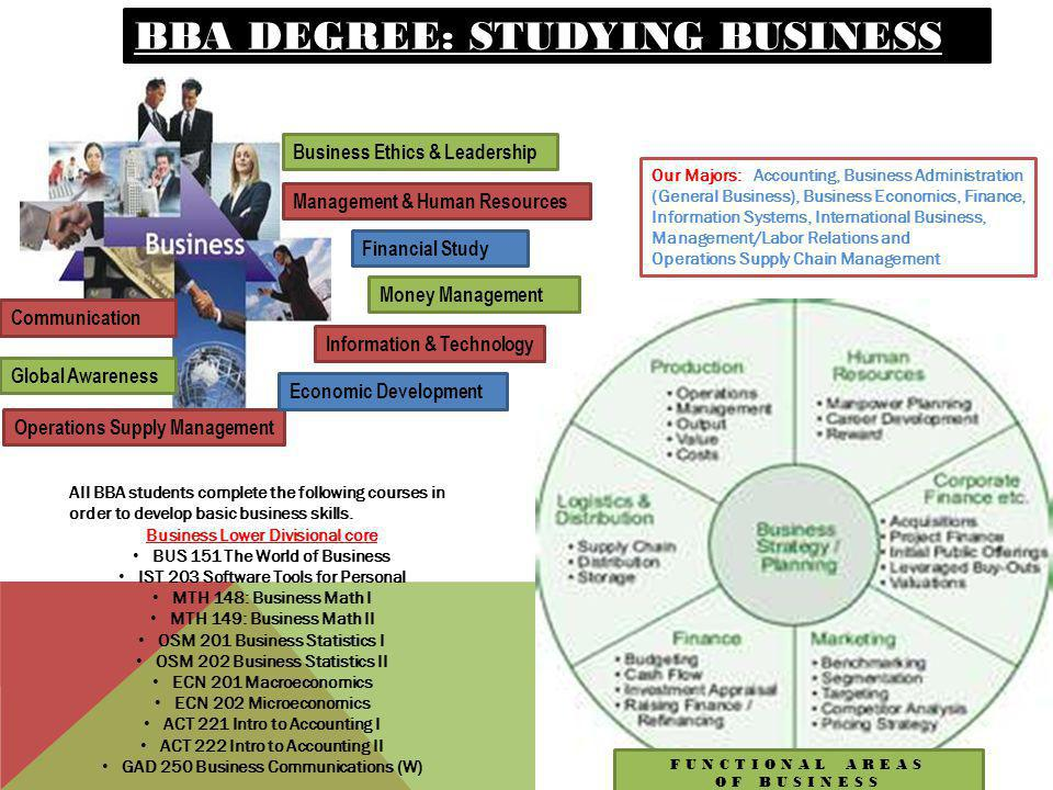 BBA Degree: studying business