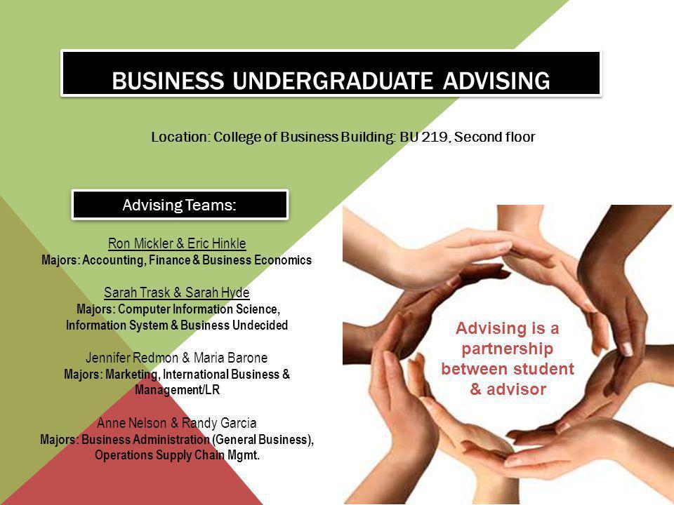 Business undergraduate advising