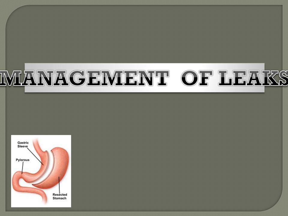 MANAGEMENT OF LEAKS