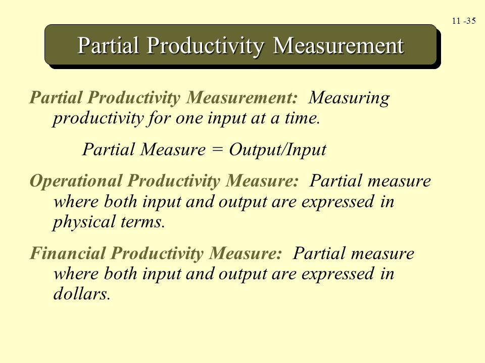 Partial Productivity Measurement