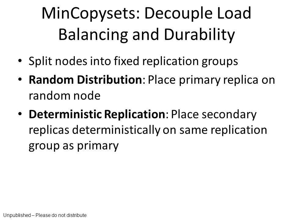 MinCopysets: Decouple Load Balancing and Durability