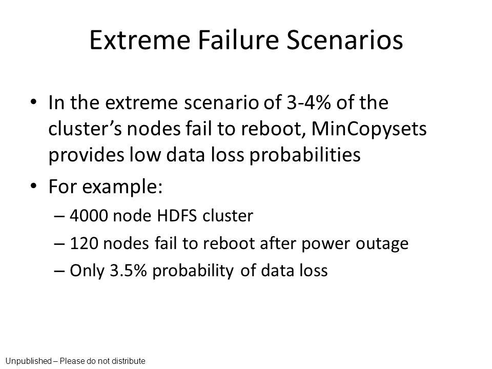 Extreme Failure Scenarios