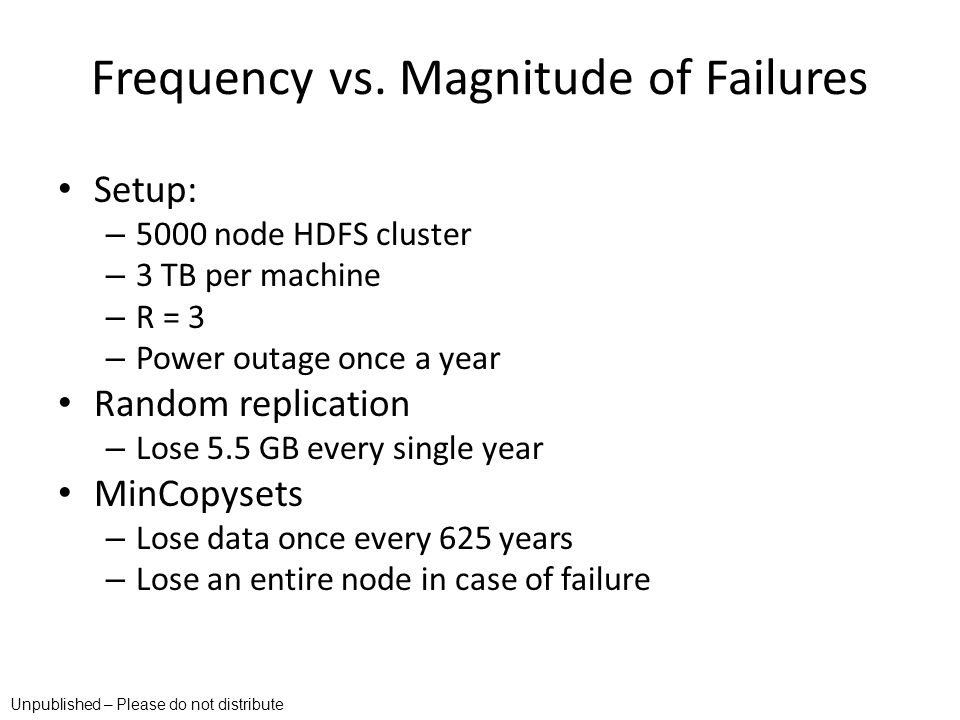Frequency vs. Magnitude of Failures