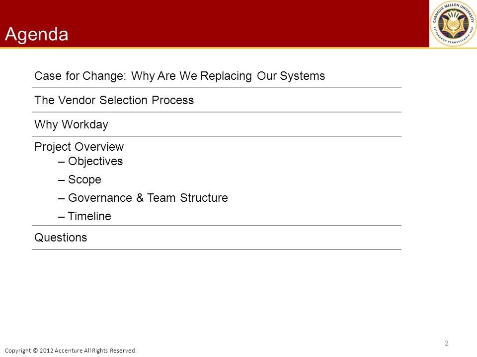 Agenda Case for Change: Why Are We Replacing Our Systems