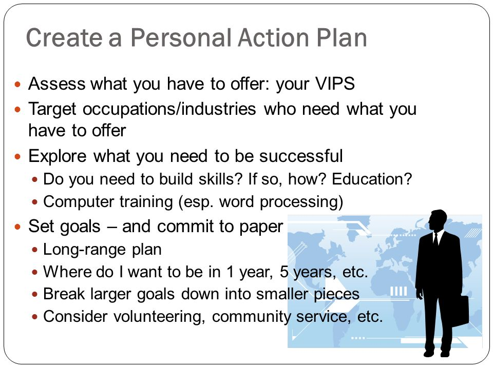 Create a Personal Action Plan