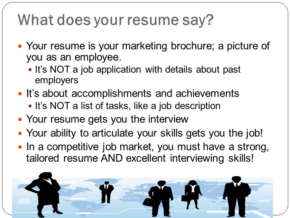 What does your resume say