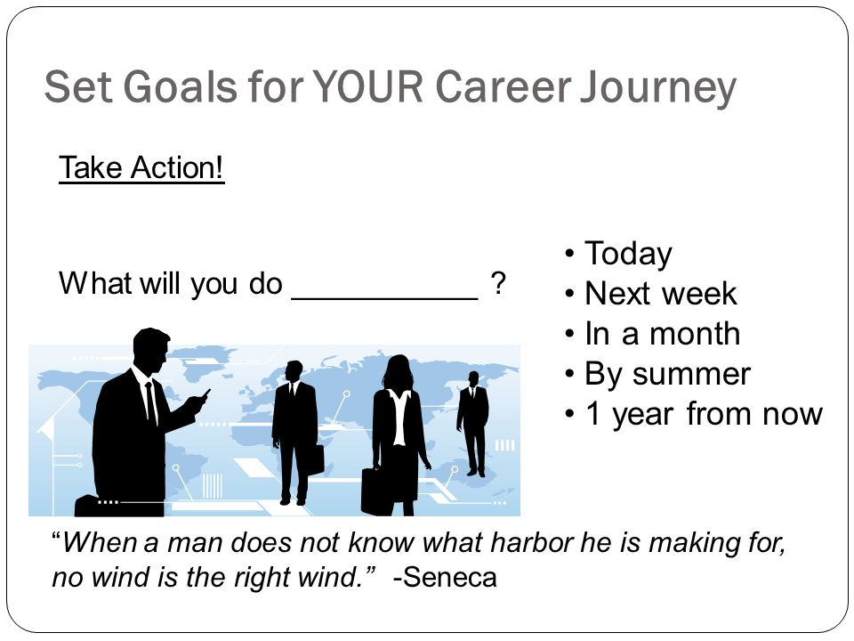 Set Goals for YOUR Career Journey