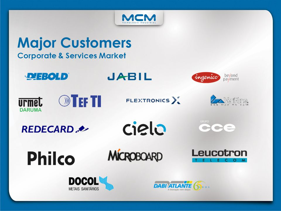 Major Customers Corporate & Services Market