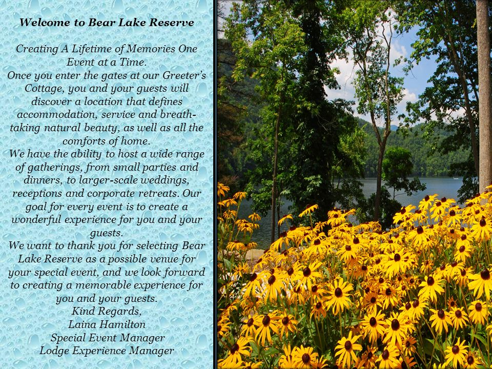 Welcome to Bear Lake Reserve
