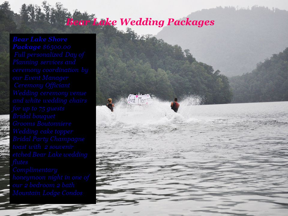 Bear Lake Wedding Packages