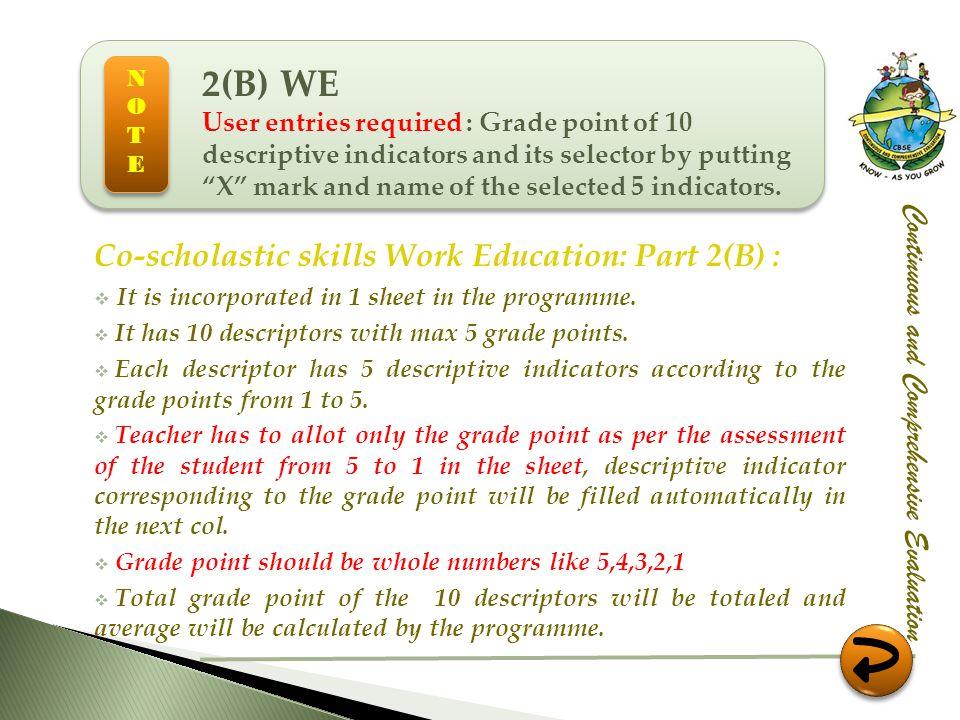 2(B) WE Co-scholastic skills Work Education: Part 2(B) :