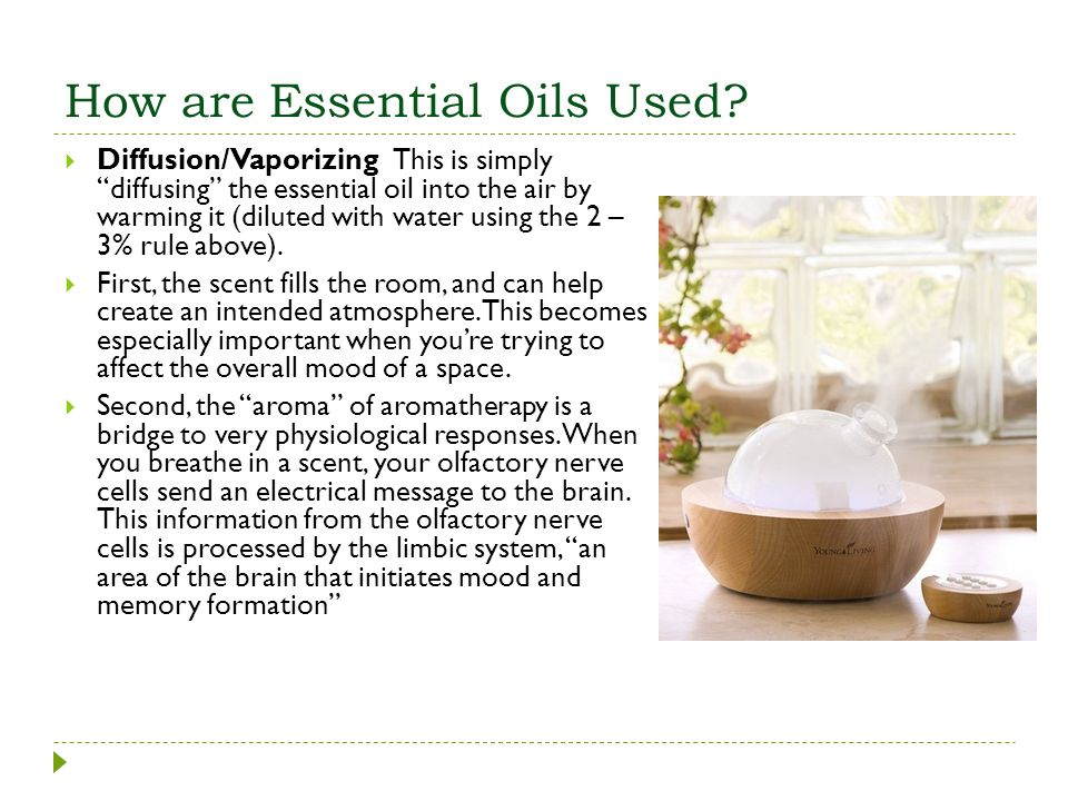 How are Essential Oils Used