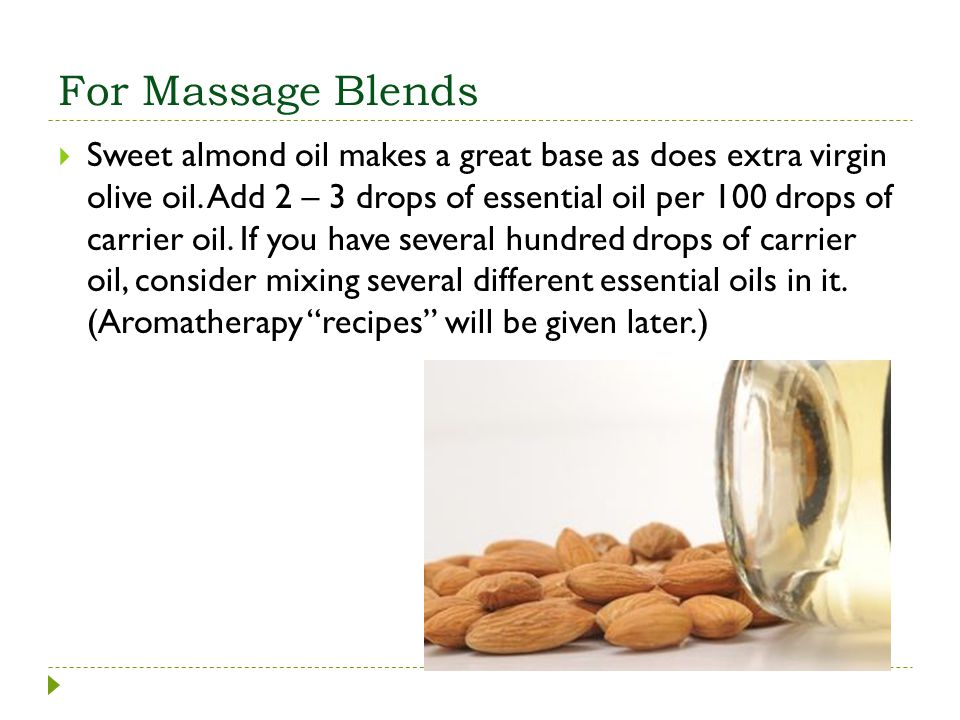 For Massage Blends