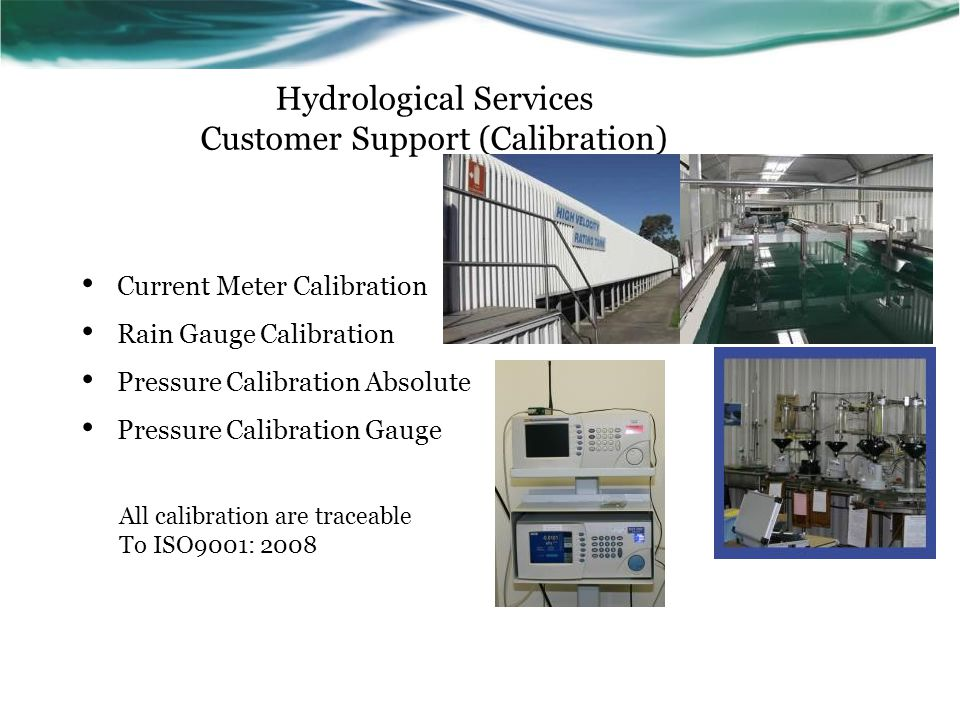 Hydrological Services Customer Support (Calibration)