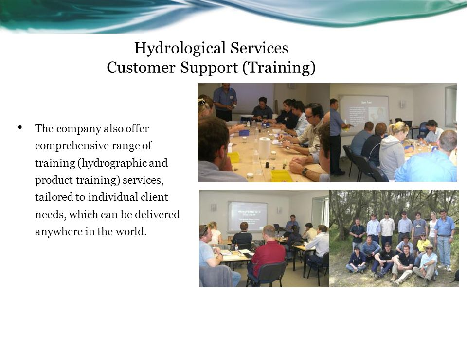 Hydrological Services Customer Support (Training)