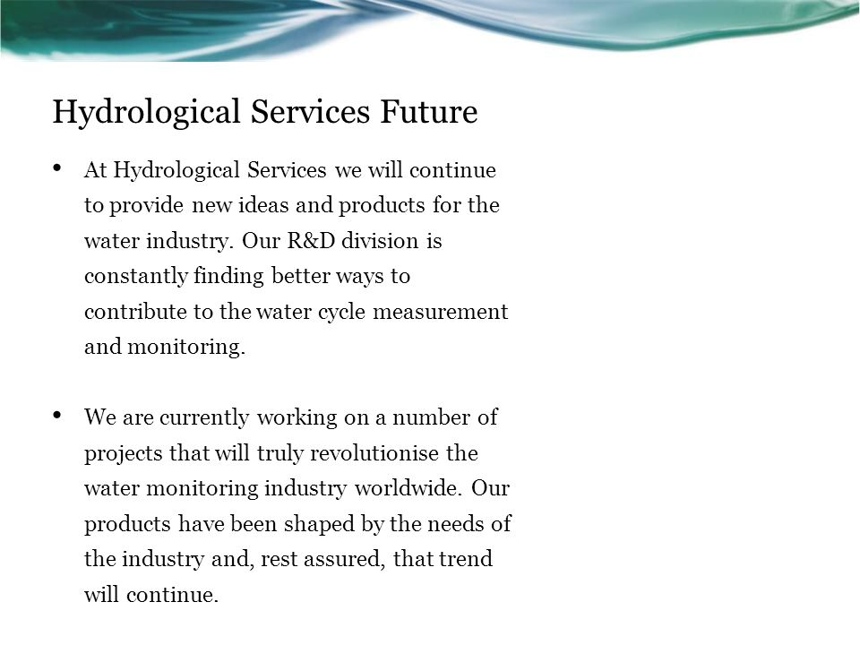 Hydrological Services Future
