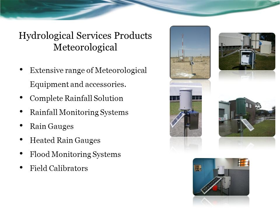 Hydrological Services Products Meteorological