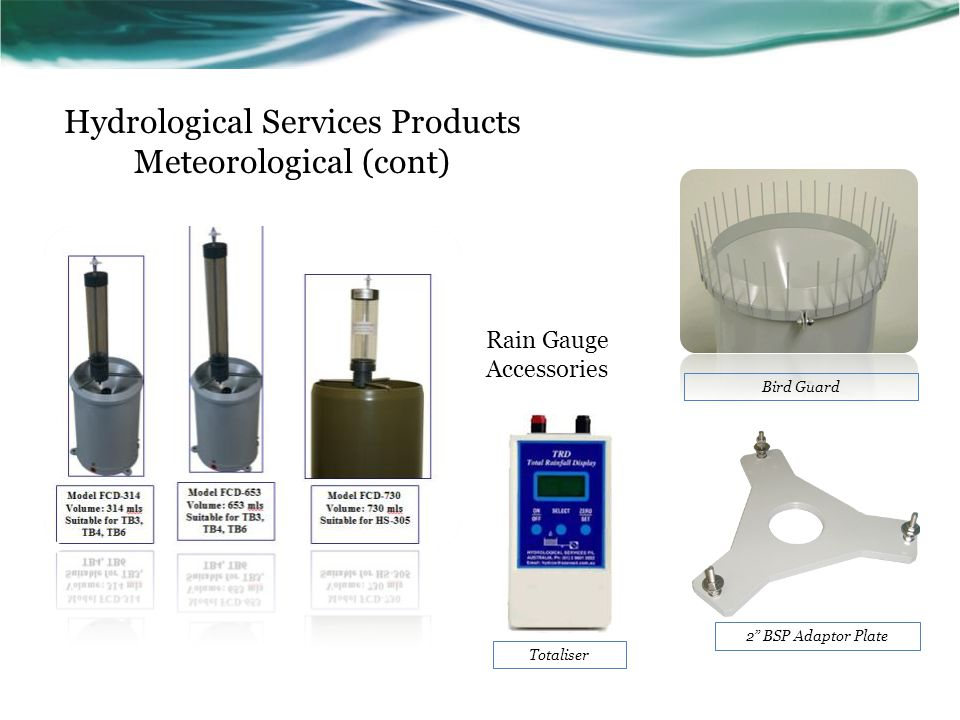 Hydrological Services Products Meteorological (cont)
