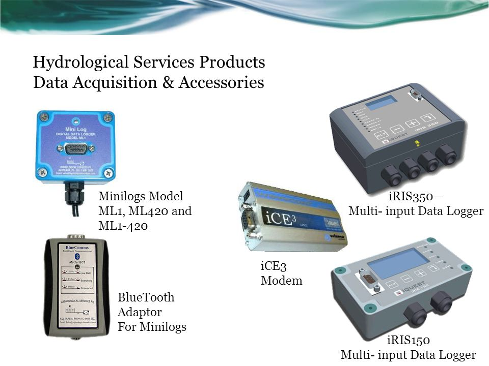 Hydrological Services Products Data Acquisition & Accessories