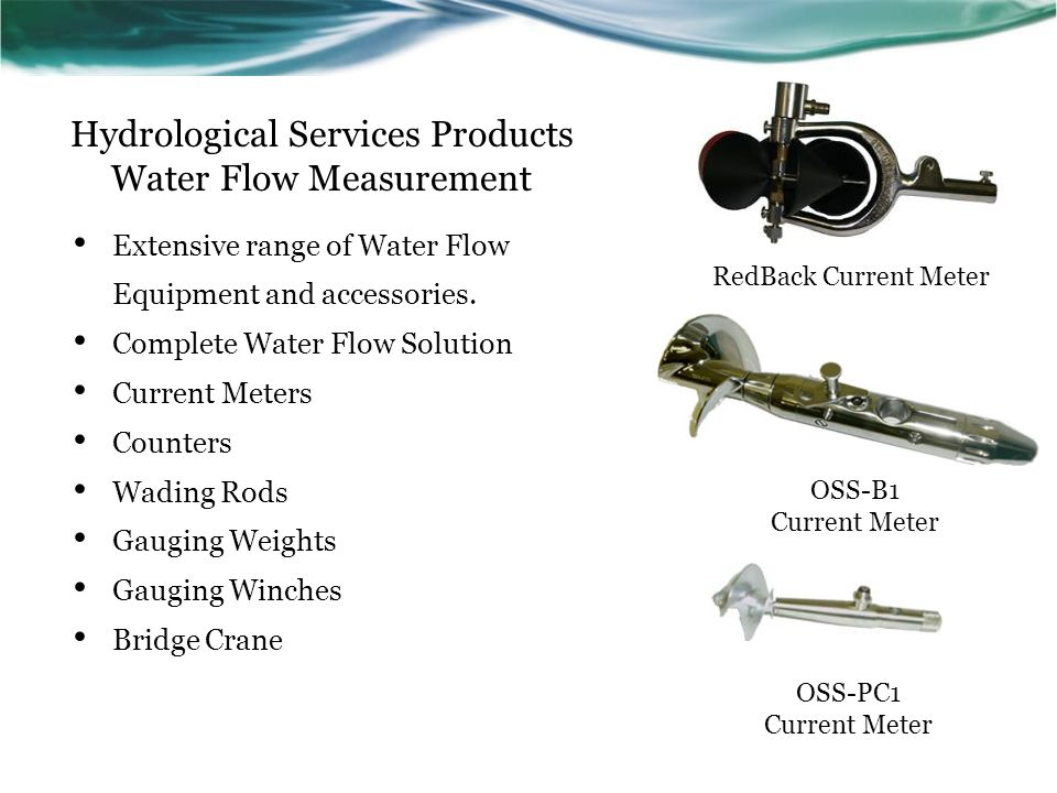 Hydrological Services Products Water Flow Measurement