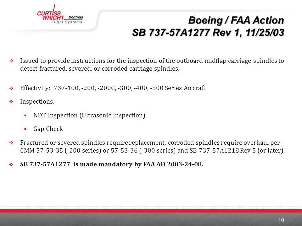Boeing / FAA Action SB 737-57A1277 Rev 1, 11/25/03