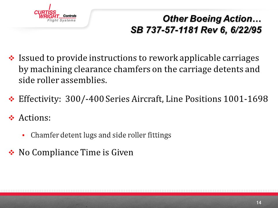 Effectivity: 300/-400 Series Aircraft, Line Positions 1001-1698