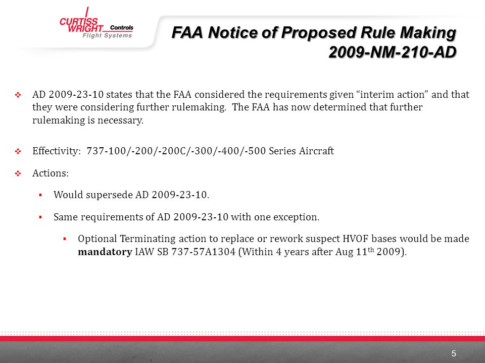 FAA Notice of Proposed Rule Making 2009-NM-210-AD