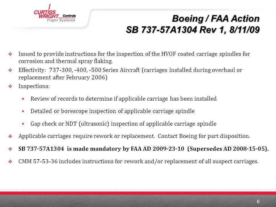 Boeing / FAA Action SB 737-57A1304 Rev 1, 8/11/09