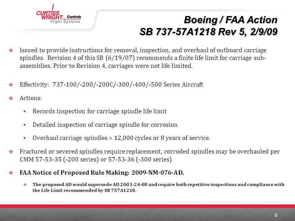 Boeing / FAA Action SB 737-57A1218 Rev 5, 2/9/09
