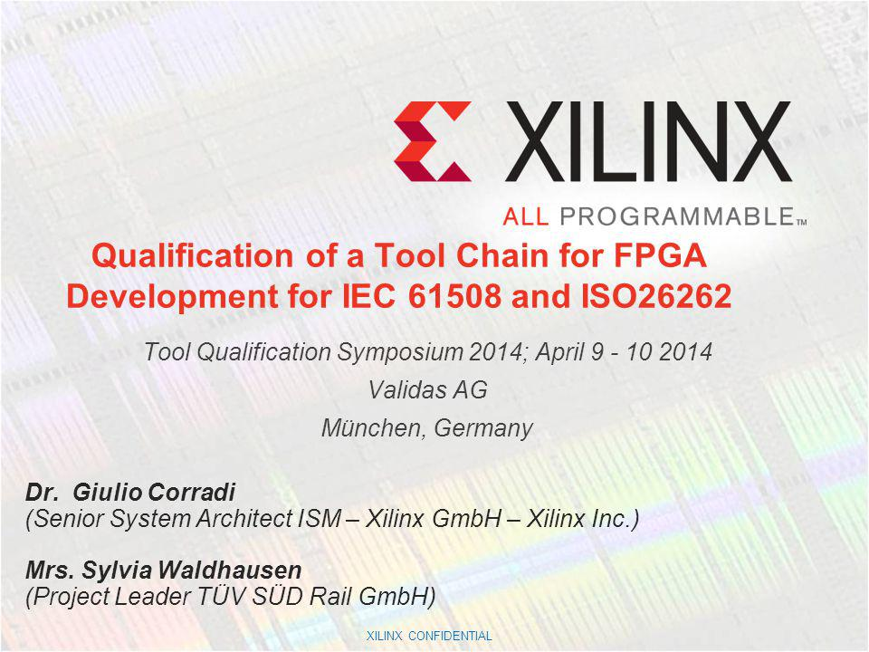Tool Qualification Symposium 2014; April 9 - 10 2014