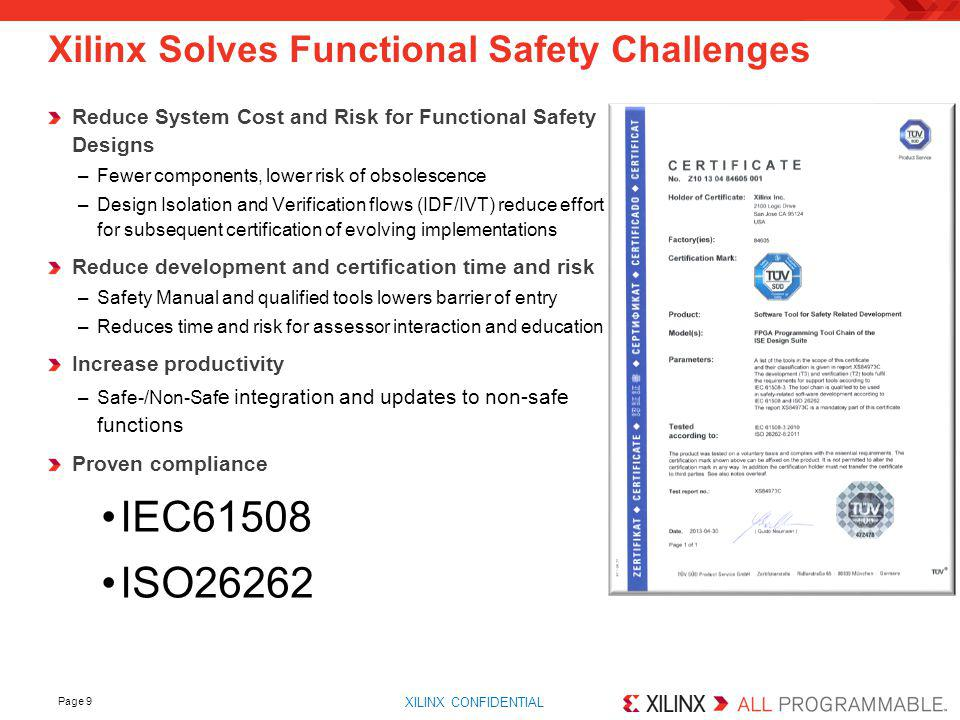 Xilinx Solves Functional Safety Challenges