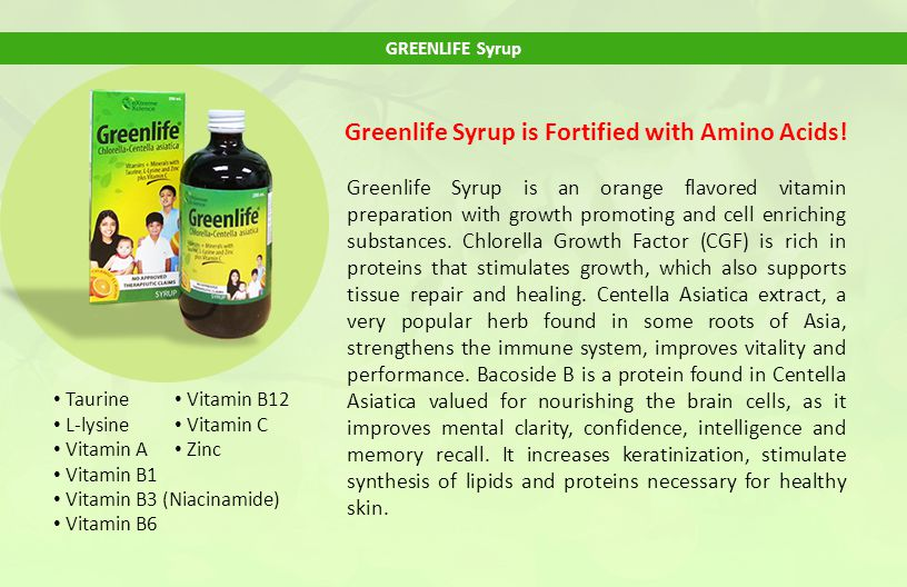 Greenlife Syrup is Fortified with Amino Acids!