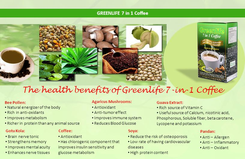 The health benefits of Greenlife 7-in-1 Coffee