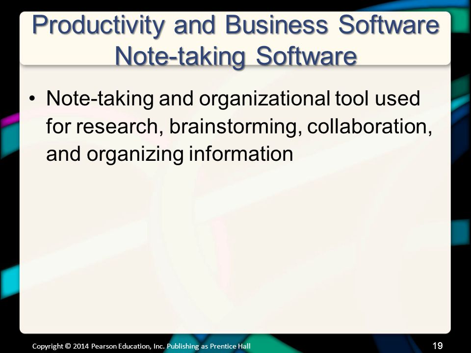 Productivity and Business Software Note-taking Software (cont.)