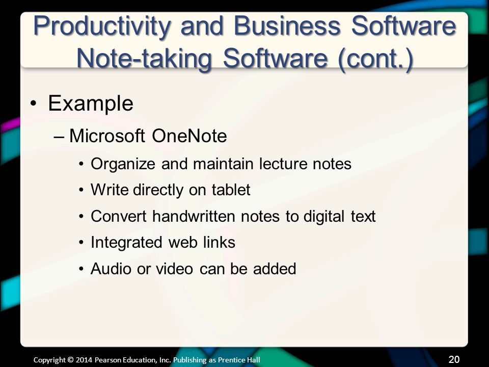 Productivity and Business Software Personal Information Manager Software