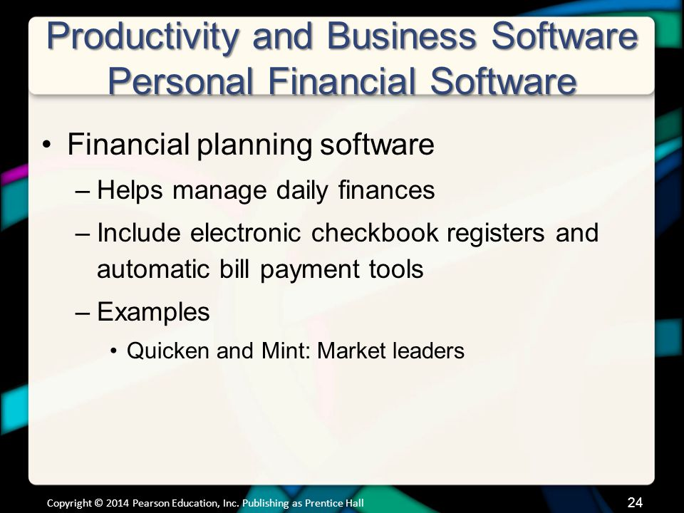 Productivity and Business Software Personal Financial Software (cont.)