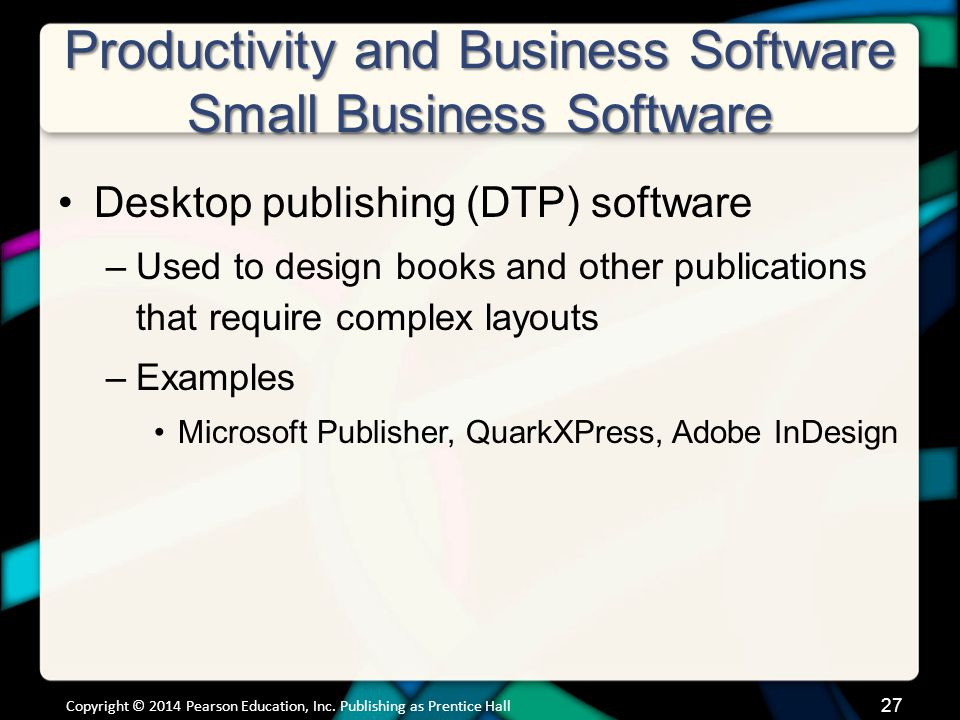 Productivity and Business Software Small Business Software (cont.)