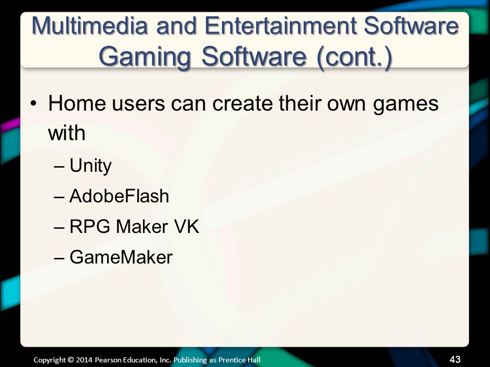 Multimedia and Entertainment Software Educational and Reference Software