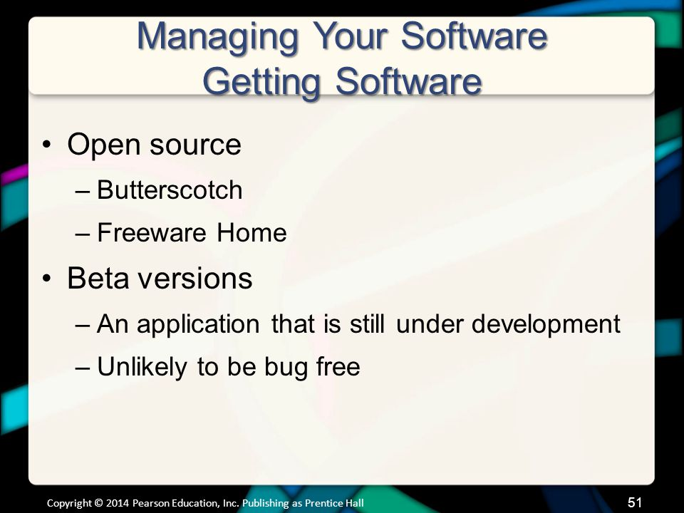 Managing Your Software Software Licenses