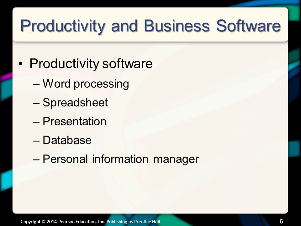 Productivity and Business Software Buying Productivity Software
