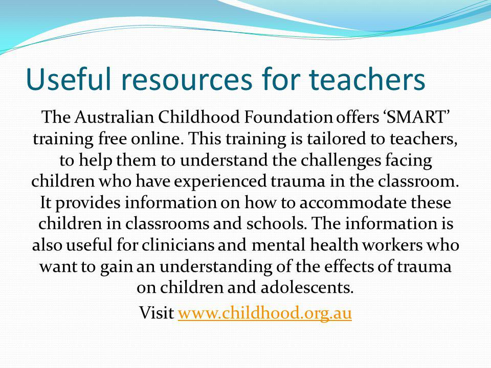 Useful resources for teachers